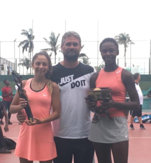 Victoire de Maelie MONFILS au tournoi ITF Juniors d'Abidjan, face à Selya RAKKI