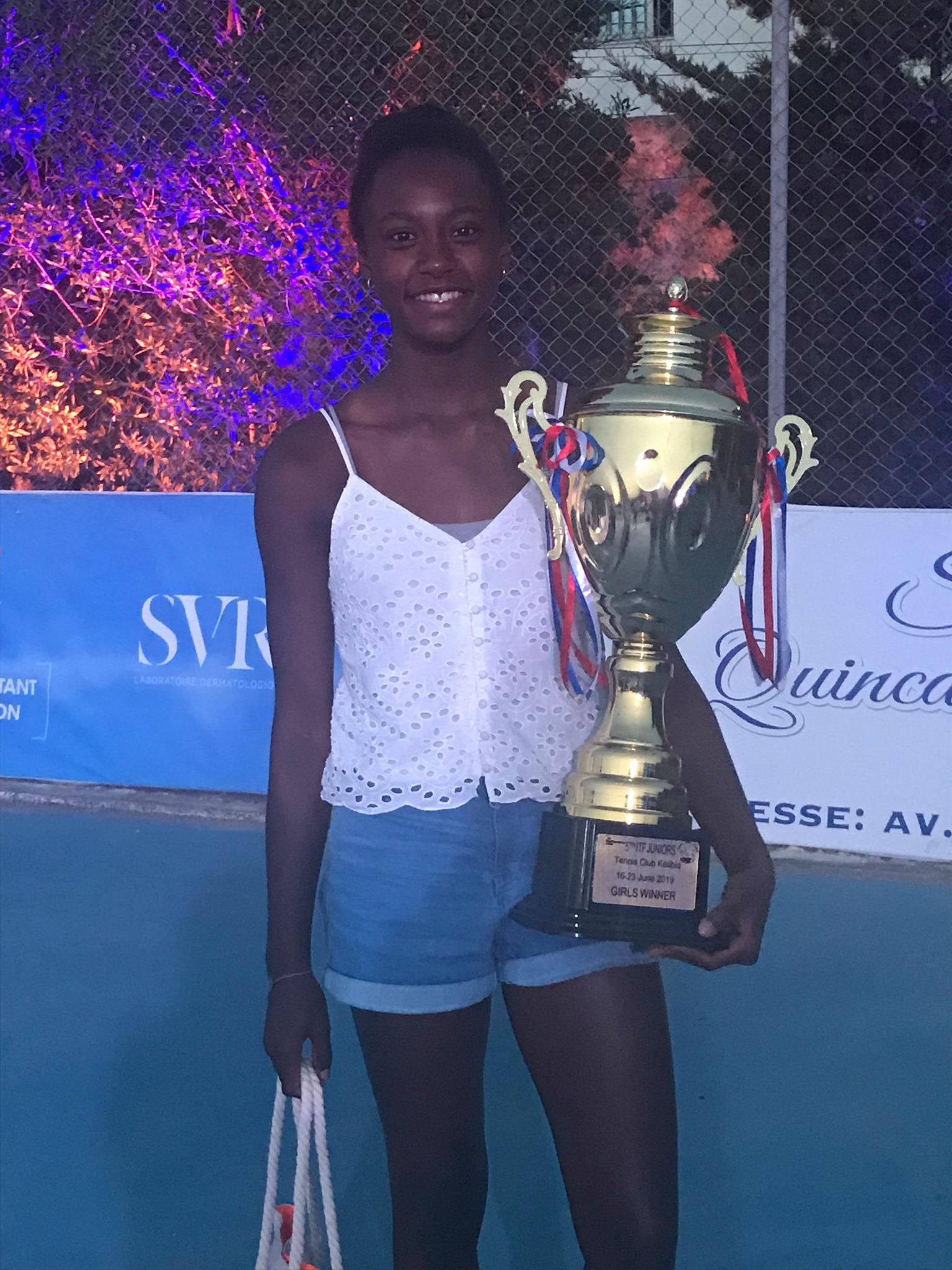 Victoire de Maélie Monfils sur l'ITF grade 4 de Kelibia (Tunisie).