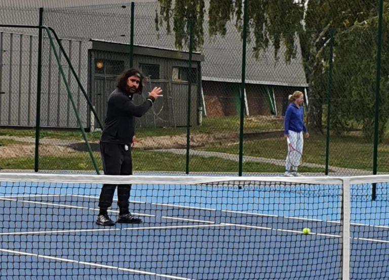 Superbe journée passée en compagnie d'Emmanuel Planque ( ancien entraîneur de Mickael Llodra, et Lucas Pouille notamment)