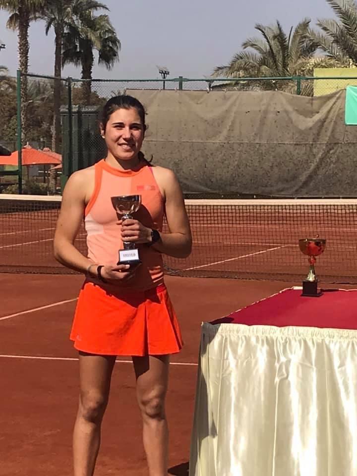 Tara Zoppas, finaliste itf juniors grade 4 du Caire (27/01/2020)
